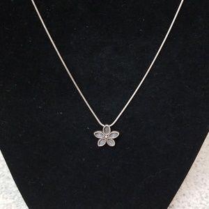 Silpada .925 Flower Pendant Necklace